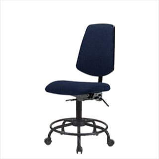 EComSeating FDHCH-MB-RT-T0-A0-RC-F45 Fabric Chair Round Tube Base with Medium Back - FDHCH-RT-T0-A0-