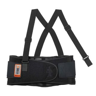 Ergodyne 11606 1100SF 2XL Black Standard Back Support