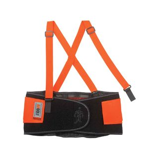 Ergodyne 11885 100HV XL Orange Economy Hi-Vis Back Support