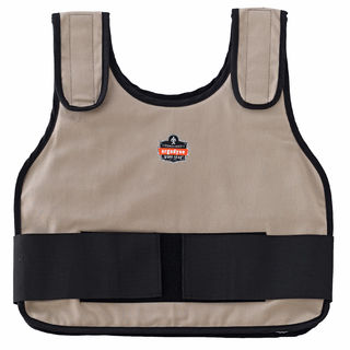 Ergodyne 12010 6230 L/XL Khaki Phase Change Cooling Vest & Pack