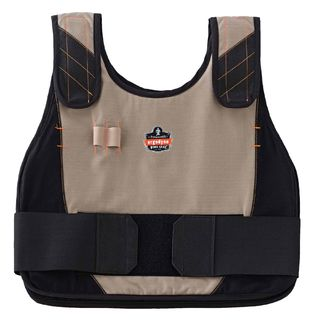Ergodyne 12203 6225 S/M Khaki Phase Change Premium Cooling Vest Hi Vis