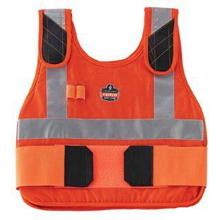 Ergodyne 12221 6215 L/XL Orange Phase Change Cooling Vest & Pack