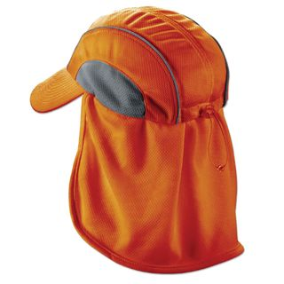 Ergodyne 12521 6650  Orange High Performance Hat w/ Neck Shade