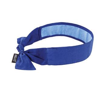 Ergodyne 12567 6700CT  Solid Blue Evap. Cooling Bandana w/CT - Tie