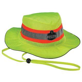 Ergodyne 12593 8935MF S/M Lime Evap. Ranger Hat w/ MF