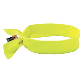 Ergodyne 12601 6700FR  Lime Evaporative FR Cooling Bandana - Tie