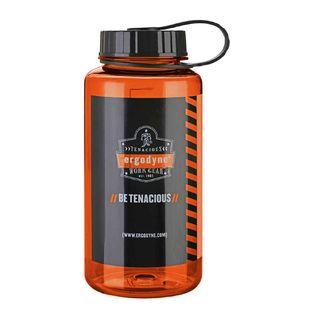 Ergodyne 13151 5151 1 ltr Orange Plastic Wide Mouth Water Bottle