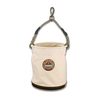 Ergodyne 14443 5743 L White Large Plastic Bottom Bucket-Swivel
