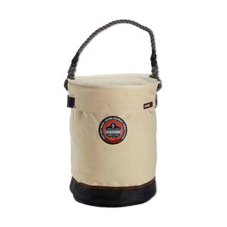 Ergodyne 14530 5730T  White Leather Bottom Bucket with Top