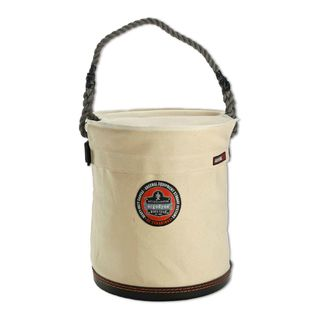 Ergodyne 14533 5733T L White Large Plastic Bottom Bucket with Top