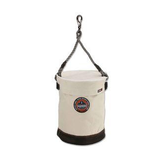 Ergodyne 14540 5740T  White Leather Bottom Bucket-Swivel with Top
