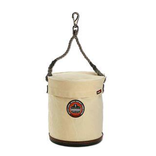 Ergodyne 14543 5743T L White Large Plastic Bottom Bucket with Top