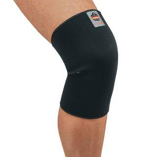 Ergodyne 16504 600 L Black Single Layer Neoprene Knee Sleeve