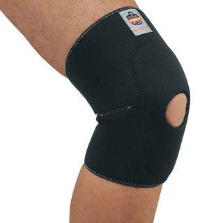Ergodyne 16536 615 2XL Black Knee Sleeve w/ Open Patella/Anterior Pad