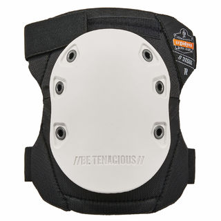 Ergodyne 18316 315HL  White Cap Long Textured Hard Cap Knee Pads