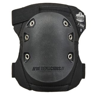 Ergodyne 18336 335HL  Black Cap Slip Resistant Rubber Cap Knee Pads - H&L