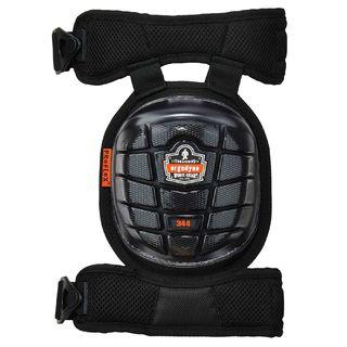 Ergodyne 18444 344  Black Short Cap Injected Gel Knee Pads w/ Comfort Straps
