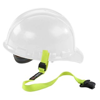 Ergodyne 19155 3155  Lime Elastic Hard Hat Lanyard with Clamp