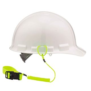 Ergodyne 19157 3157  Lime Coil Hard Hat Lanyard with Buckle
