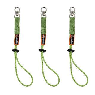 Ergodyne 19765 3713-BULK Standard Lime Elastic Loop Tool Tails Swivel - 10lbs 60-Pack