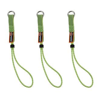 Ergodyne 19767 3703-BULK Standard Lime Elastic Loop Tool Tails Ext - 15lbs 60-Pack