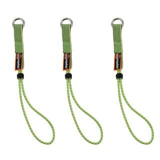 Ergodyne 19767 3703 Standard Lime Elastic Loop Tool Tails Ext - 15lbs 3-pack