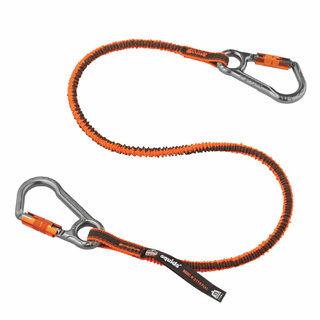Ergodyne 19828 3118F(x) Standard Orange Tool Lanyard Dual Locking Carabiner - 15lbs