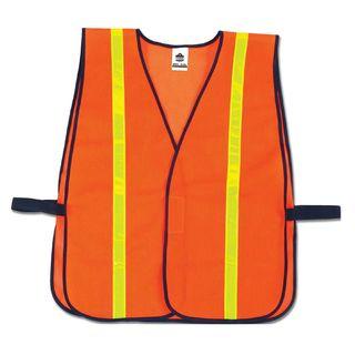 Ergodyne 20070 8040HL  Orange Non-Certified Hi-Gloss Vest
