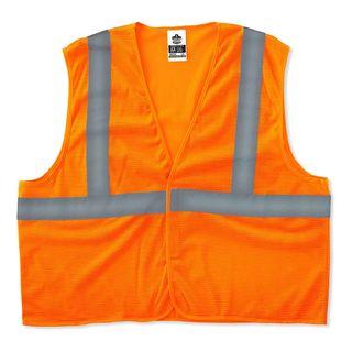 Ergodyne 20965 8205HL L/XL Orange Type R Class 2 Super Econo Mesh Vest