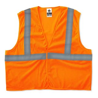 Ergodyne 20967 8205HL 2XL/3XL Orange Type R Class 2 Super Econo Mesh Vest