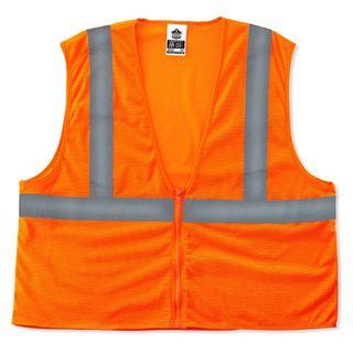 Ergodyne 20989 8205Z 4XL/5XL Orange Type R Class 2 Super Econo Mesh Vest