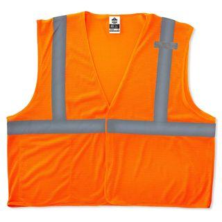 Ergodyne 21019 8210HL 4XL/5XL Orange Type R Class 2 Economy Mesh Vest