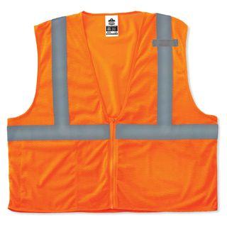 Ergodyne 21049 8210Z 4XL/5XL Orange Type R Class 2 Economy Mesh Vest