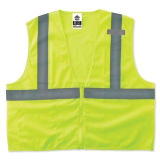 Ergodyne 21059 8210Z 4XL/5XL Lime Type R Class 2 Economy Mesh Vest