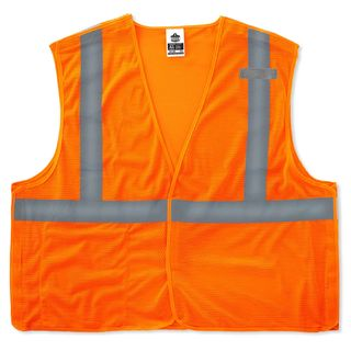 Ergodyne 21065 8215BA L/XL Orange Type R Class 2 Econo Breakaway Mesh Vest