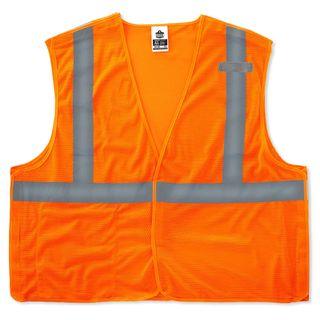 Ergodyne 21067 8215BA 2XL/3XL Orange Type R Class 2 Econo Breakaway Mesh Vest