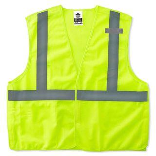 Ergodyne 21075 8215BA L/XL Lime Type R Class 2 Econo Breakaway Mesh Vest