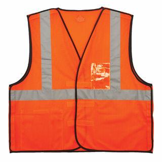 Ergodyne 21085 8216BA L/XL Orange Type R Class 2 Breakaway Mesh Vest w/ ID Holder