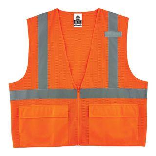 Ergodyne 21119 8220Z 4XL/5XL Orange Type R Class 2 Standard Mesh Vest