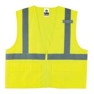 Ergodyne 21127 8220Z 2XL/3XL Lime Type R Class 2 Standard Mesh Vest