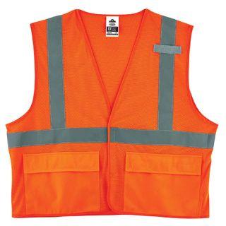 Ergodyne 21137 8220HL 2XL/3XL Orange Type R Class 2 Standard Mesh Vest