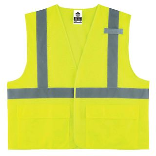 Ergodyne 21143 8220HL S/M Lime Type R Class 2 Standard Mesh Vest