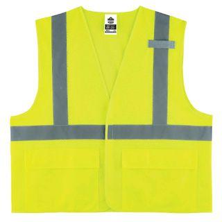 Ergodyne 21145 8220HL L/XL Lime Type R Class 2 Standard Mesh Vest