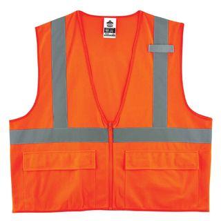 Ergodyne 21157 8225Z 2XL/3XL Orange Type R Class 2 Standard Solid Vest