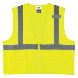 Ergodyne 21163 8225Z S/M Lime Type R Class 2 Standard Solid Vest