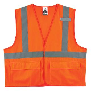 Ergodyne 21173 8225HL S/M Orange Type R Class 2 Standard Solid Vest