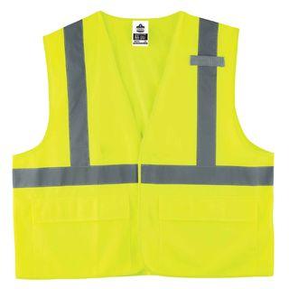Ergodyne 21187 8225HL 2XL/3XL Lime Type R Class 2 Standard Solid Vest