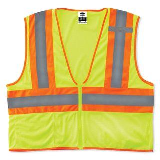 Ergodyne 21291 8229Z XS Lime Type R Class 2 Economy Two-Tone Vest