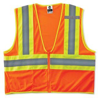 Ergodyne 21305 8229Z L/XL Orange Type R Class 2 Economy Two-Tone Vest