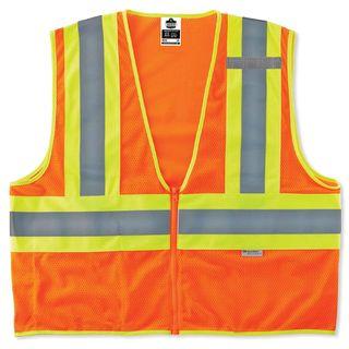 Ergodyne 21319 8230Z 4XL/5XL Orange Type R Class 2 Two-Tone Vest